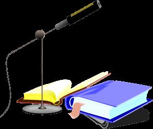 книга и микрофон